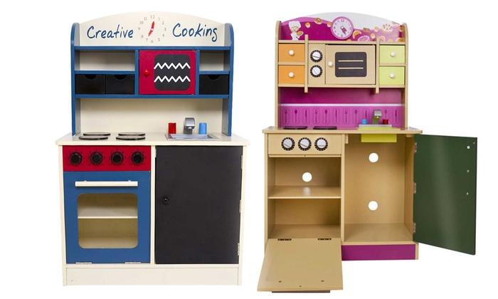 Cucina giocattolo in legno groupon goods