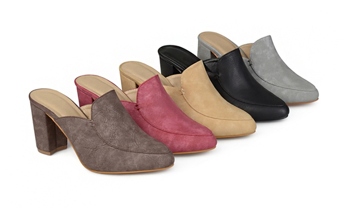 0cf8530b05e2 Journee Collection Women s Block Heel Loafer Mules