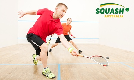 Squash Court and Racquet Hire One $10, Two $19 or Four Sessions $35 with Squash Australia Up to $156 Value