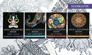 Peaceful Adult Coloring Books (bundle Of 4)