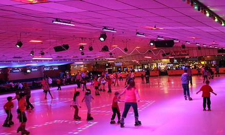 Roller Skating for Two or Four with Skate Rentals and More at Roller Kingdom (Up to 69% Off)