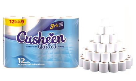 60 or 120 Cusheen White Quilts Toilet Rolls