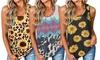 Women's Print Sleeveless T-Shirt