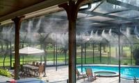 Difusor de agua para terraza o jardín con manguera de 10 metros
