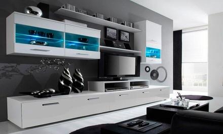 Meuble TV mural du salon, différents modèles et coloris au choix dès 399€ (jusqu'à 77% de réduction)