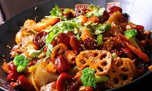 Baiwei: Menú para 2 o 4 con sartén u olla de Sichuán, ración de arroz jazmín o pan chino y bebida desde 19,95 € en Baiwei