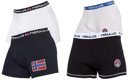 3er-Pack Nebulus Boxershorts Bubox oder Diego in Schwarz oder Weiß