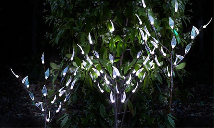 Three Solar Branch Lights in White or Colour £9.98 or Six £18.98 With Free Delivery