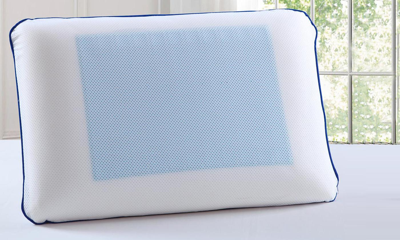 One or Two Memory Foam Cool Gel Pillows
