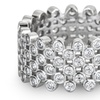4 CTTW Cubic Zirconia Bubble Eternity Ring in Sterling Silver