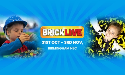BRICKLIVE 2019, Single or Family Ticket, 31 October 3 November, Birmingham NEC