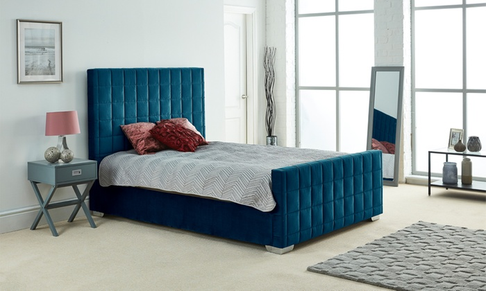 Heather Velvet Bed Frame with Optional Mattress