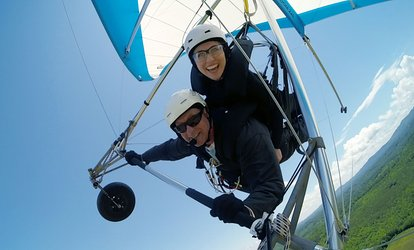 One or Two Tandem Discovery Hang Gliding Flights at Thermal Valley (Up to 28% Off)