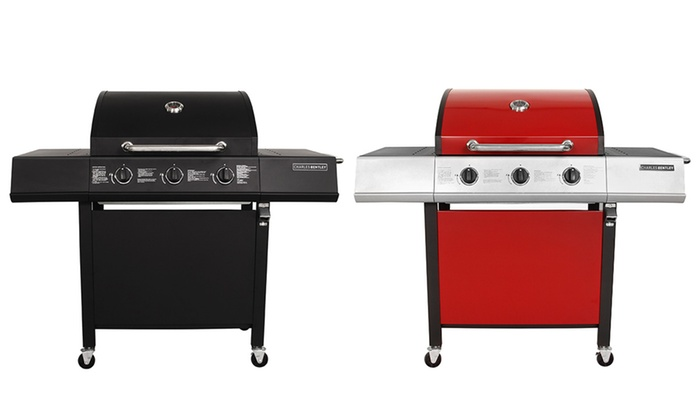 Groupon Goods Global GmbH: Charles Bentley Three-Burner Gas BBQ With Free Delivery
