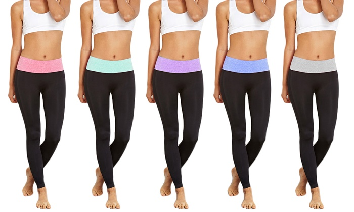 Women's Tummy Control Leggings (5-Pack)
