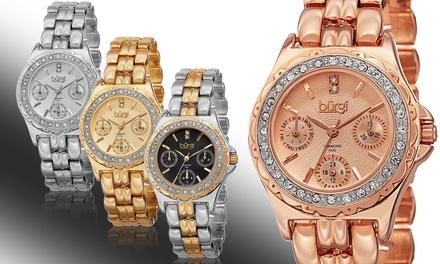 Burgi Women's Diamond Marker Multifunction Watch