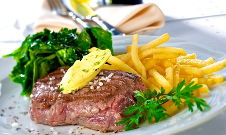 Steak Frites and Wine for Two or Four at Liberte Bar (Up to 55% Off)