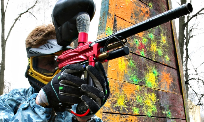 Boss Paintball -  Locust : Paintball Package for Four or Eight with Equipment and 500 Paintballs Each at Boss Paintball (Up to 53% Off)
