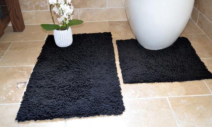Set di 2 tappetini da bagno groupon goods