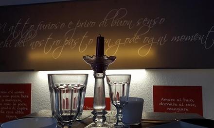 1,2 kg di fiorentina, antipasto e vino