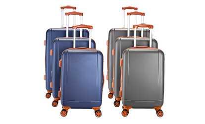 Shop Groupon 600W Chicago Luggage Set c4c35544de