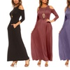 Isaac Liev Women's Cold Shoulder Maxi Dress. Plus Sizes Available.