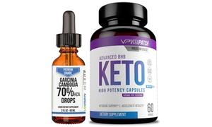 BHB Keto Weight Loss Capsules with Garcinia Cambogia Drops (2-Pack)