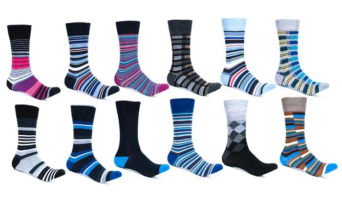 Alberto Cardinali Men's Mystery Dress Socks (12-Pack)