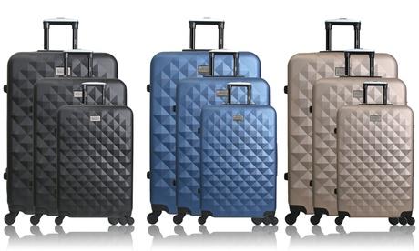 Set de 3 maletas trolley Strasbourg disponibles en varios colores por 109,99 € (82% de descuento)