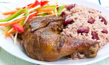 Dinner for Two or Four with Jerk Chicken and Side Dishes or Take-Out at Caribbean Chill & Grill (Up to 49% Off)