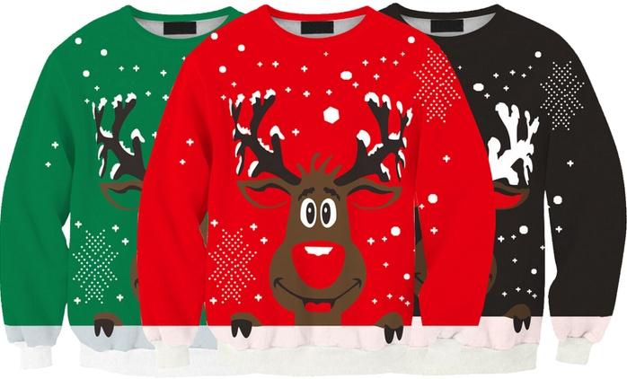 Chandail renne de Noël pour femme, taille et coloris au choix, à 16,99€ (60% de réduction)