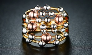 Tri-Colored Stacked Ring by Euphir