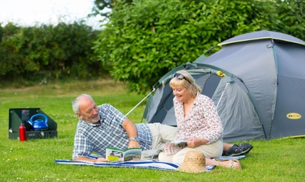 Exeter: Up to 4Night Fully Serviced Grass Pitch Stay for Up to Six at Castle Brake Holiday Park