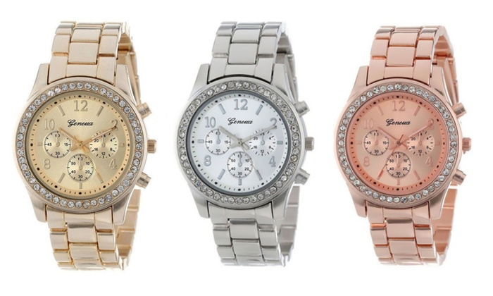 One or Two Geneva Crystal Watches