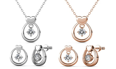 Collar y/o pendientes hechas con cristales de Swarovski®