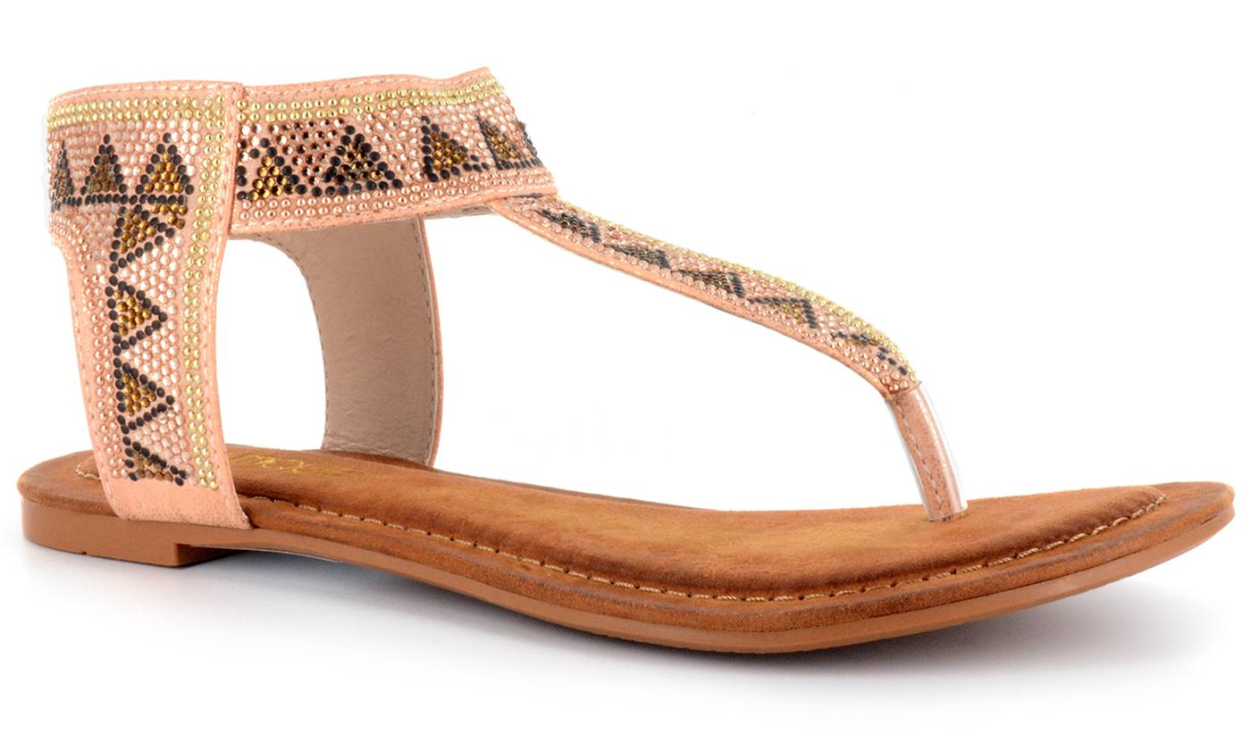 Corkys Footwear Nora Women's Jeweled Sandals: 7/Pink