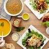 Mediterranes Hummus-Gericht