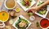 Nanoosh - Berlin: Mediterraner Salat, Hummusteller oder Wrap für 2 oder 4 Personen im Restaurant Nanoosh (bis zu 31% sparen*)