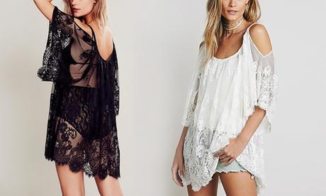 Uno o 2 vestiti da donna trasparenti in pizzo trasparente Balotti disponibili...