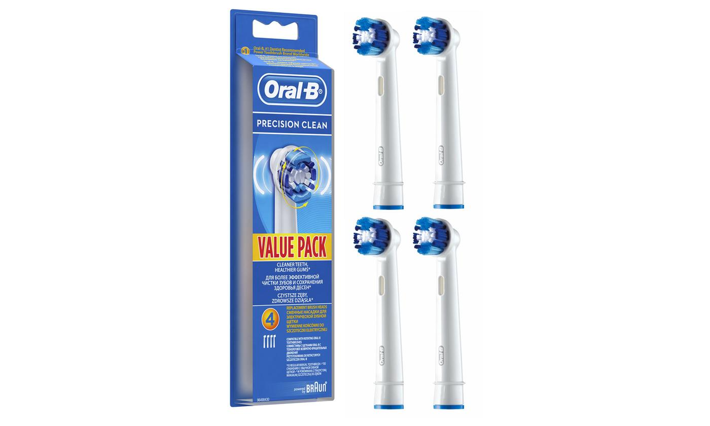Four-Pack of Oral-B Precision Clean Replacement Brush Heads (£7.39)