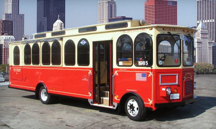 American Sightseeing Chicago - The Loop: Eight-Hour Hop-On, Hop-Off City Trolley Tour for Two or Four from American Sightseeing Chicago (Up to 54% Off)