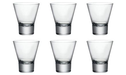 Six or Twelve Bormioli Ypsilon Rocco Glass Heavy-Base Tumblers 150ml