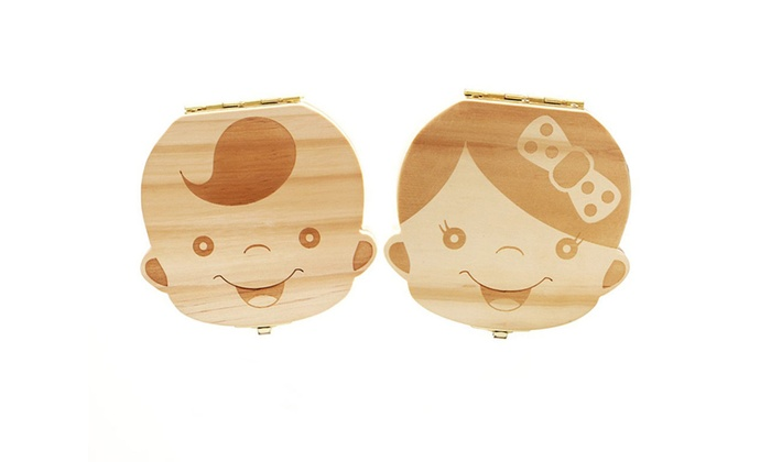Deal Genie: One (AED 45) or Two (AED 79) Boy's or Girl's Tooth Keepsake Boxes