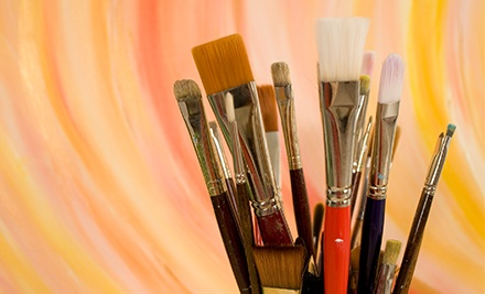 Paint-and-Sip Class or One Groupon Good for $30 Worth of Paint Bar Studio Time and Drinks at The Painted Lyon