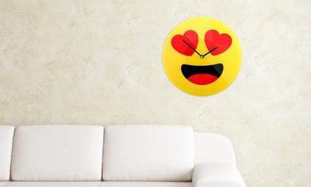 Orologi da parete Emoji in vetro disponibili in 3 modelli