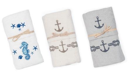 Fino a 8 asciugamani in spugna con ricamo disponibili in vari colori