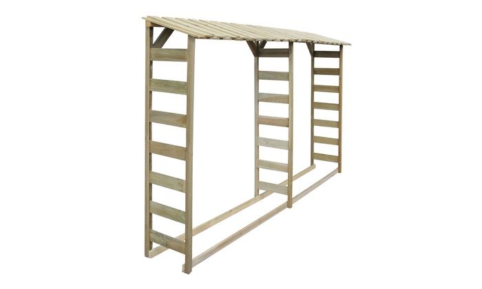 rangement pour bois de chauffage groupon. Black Bedroom Furniture Sets. Home Design Ideas