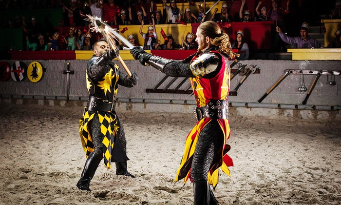 Groupon is not affiliated with or sponsored by the Medieval Times Dallas in connection with this deal. Please contact Groupon customer service for all inquiries related to this offer. Inquiries placed to Viator will be directed back to Groupon. This offer is not eligible for promo codes%(6).