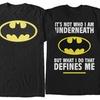 Men's Batman Print 100% Cotton T-Shirts