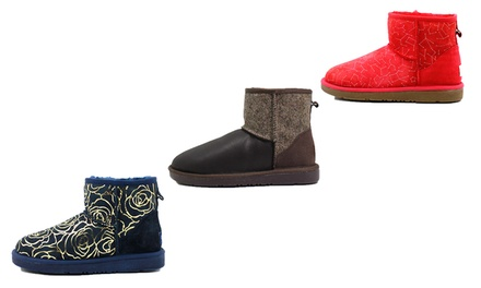 for a Pair of Ozlamb UGG Printed Ankle Boots in Choice of Model Don't Pay up to $259